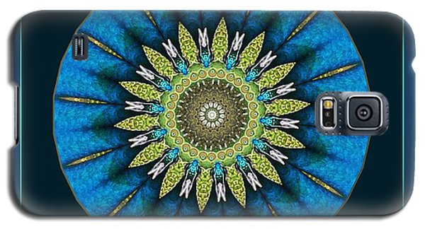 Galaxy S5 Case featuring the photograph Color Me Peacock by Barbara MacPhail