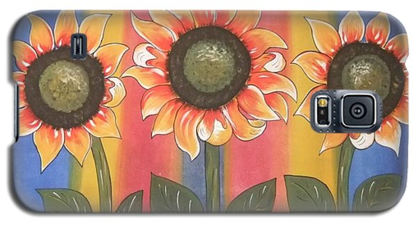 Galaxy S5 Case featuring the painting Color Me Sunny by Cindy Micklos