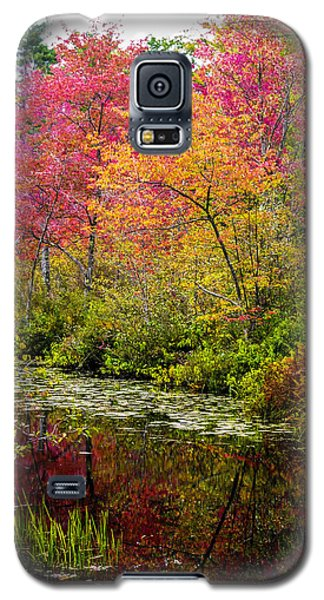 Galaxy S5 Case featuring the photograph Color On The Water by Mike Ste Marie