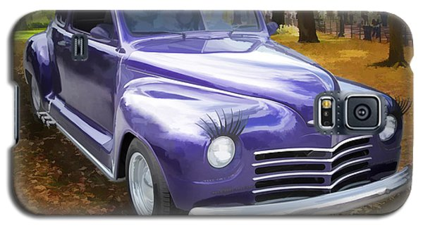 Color Painting Of A Complete 1948 Plymouth Classic Car 3389.02 Galaxy S5 Case