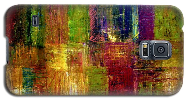 Color Panel Abstract Galaxy S5 Case