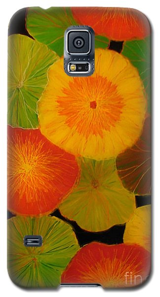 Galaxy S5 Case featuring the painting Color Splash 5 by Anna Skaradzinska