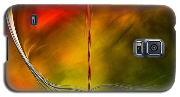 Color Symphony With Red Flow 3 Galaxy S5 Case