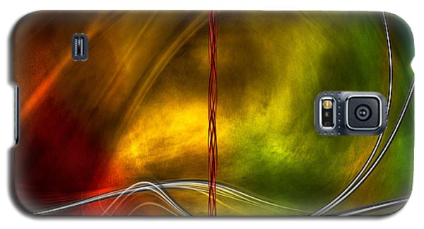 Color Symphony With Red Flow 5 Galaxy S5 Case