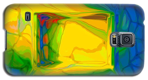 Galaxy S5 Case featuring the digital art Color Television by Constance Krejci
