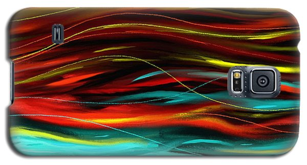 Galaxy S5 Case featuring the painting Color Waves by Shawna Rowe