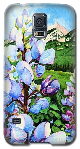 Galaxy S5 Case featuring the painting Colorado Summer Blues Close-up by Barbara Jewell