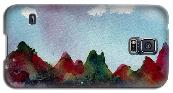 Galaxy S5 Case featuring the painting Colorado River Glow by Anne Duke
