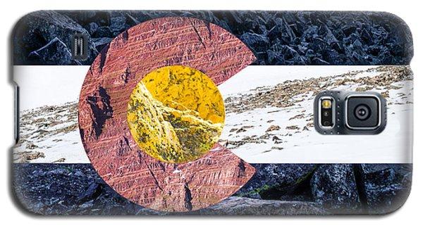 Colorado State Flag With Mountain Textures Galaxy S5 Case