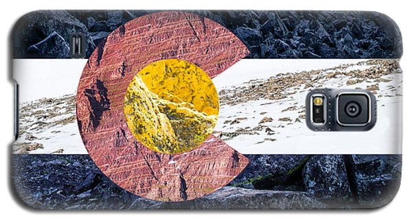 Colorado State Flag With Mountain Textures Galaxy S5 Case