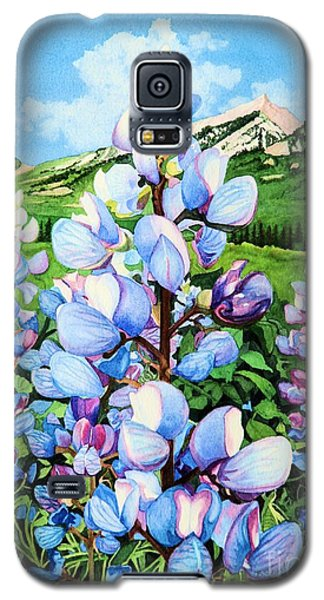 Galaxy S5 Case featuring the painting Colorado Summer Blues by Barbara Jewell