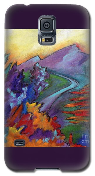 Galaxy S5 Case featuring the painting Colordance by Elizabeth Fontaine-Barr