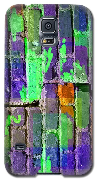 Colored Brick And Mortar 4 Galaxy S5 Case