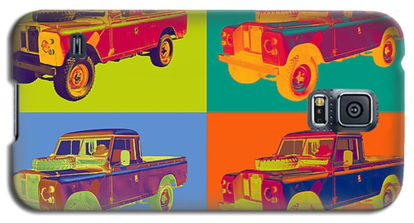 Colorful 1971 Land Rover Pick Up Truck Pop Art Galaxy S5 Case by Keith Webber Jr