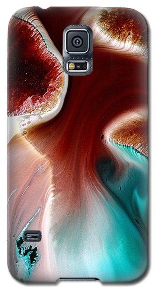 Colorful Abstract Art Wavy Road By Kredart Galaxy S5 Case