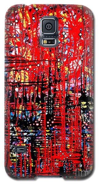 Colorful Abstract Artwork Galaxy S5 Case