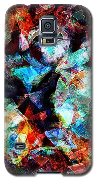 Galaxy S5 Case featuring the digital art Colorful Abstract Design by Phil Perkins