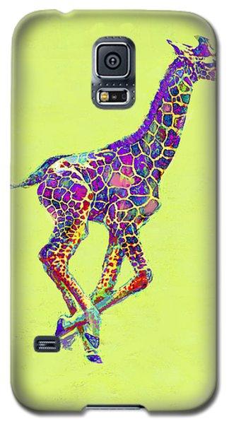 Colorful Baby Giraffe Galaxy S5 Case by Jane Schnetlage
