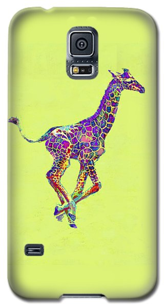 Colorful Baby Giraffe Galaxy S5 Case by Jane Schnetlage