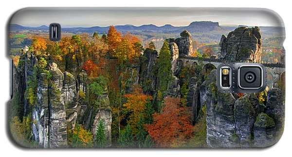 Colorful Bastei Bridge In The Saxon Switzerland Galaxy S5 Case