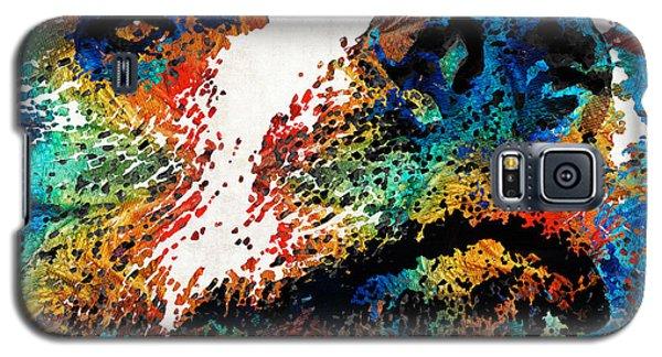 Brown Bear Galaxy S5 Case - Colorful Bear Art - Bear Stare - By Sharon Cummings by Sharon Cummings