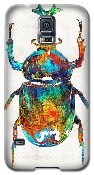 Colorful Beetle Art - Scarab Beauty - By Sharon Cummings Galaxy S5 Case