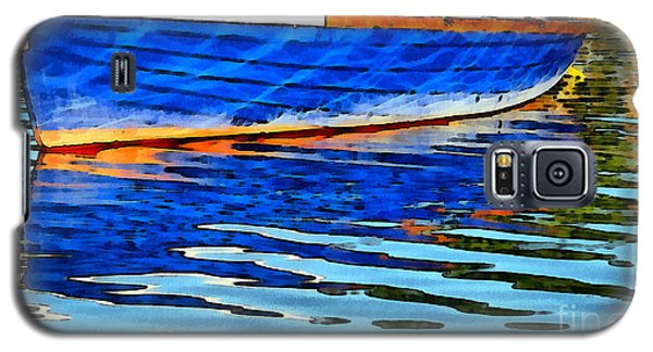 Colorful Boat On The Water Galaxy S5 Case by Odon Czintos