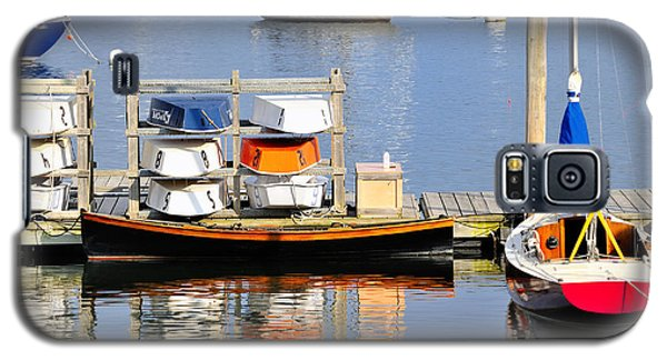 Colorful Boats Rockland Maine Galaxy S5 Case