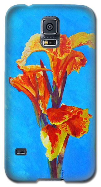 Galaxy S5 Case featuring the painting Colorful Canna by Margaret Saheed