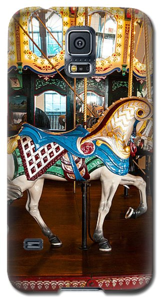 Galaxy S5 Case featuring the photograph Colorful Carousel Horse by Jerry Cowart