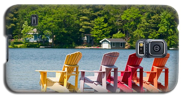 Galaxy S5 Case featuring the photograph Colorful Chairs by Les Palenik