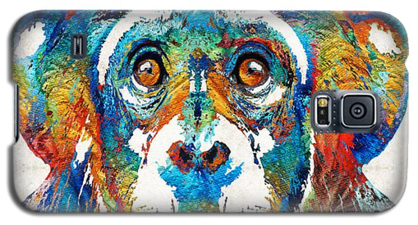 Colorful Chimp Art - Monkey Business - By Sharon Cummings Galaxy S5 Case by Sharon Cummings
