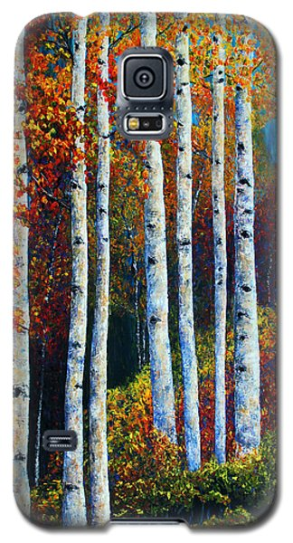 Galaxy S5 Case featuring the painting Colorful Colordo Aspens by Jennifer Godshalk