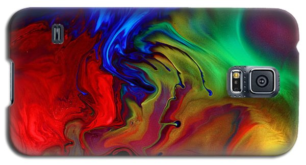 Colorful Contemporary Abstract Art Fusion  Galaxy S5 Case