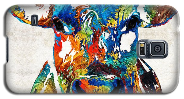 Bull Galaxy S5 Case - Colorful Cow Art - Mootown - By Sharon Cummings by Sharon Cummings