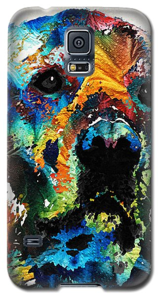 Colorful Dog Art - Heart And Soul - By Sharon Cummings Galaxy S5 Case