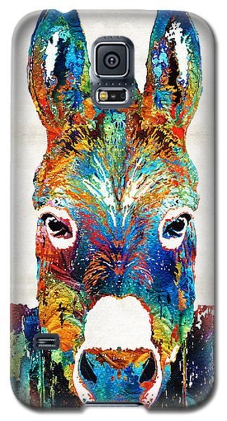 Colorful Donkey Art - Mr. Personality - By Sharon Cummings Galaxy S5 Case by Sharon Cummings
