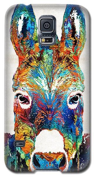Colorful Donkey Art - Mr. Personality - By Sharon Cummings Galaxy S5 Case