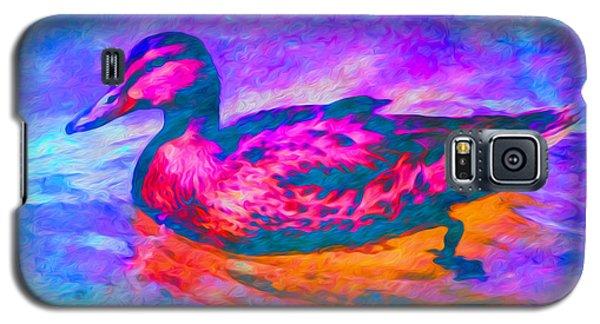 Colorful Duck Art By Priya Ghose Galaxy S5 Case