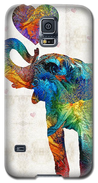 Colorful Elephant Art - Elovephant - By Sharon Cummings Galaxy S5 Case