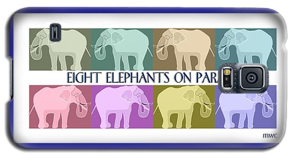Pastel Elephants On Parade Galaxy S5 Case