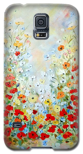 Colorful Field Of Poppies Galaxy S5 Case by Dorothy Maier