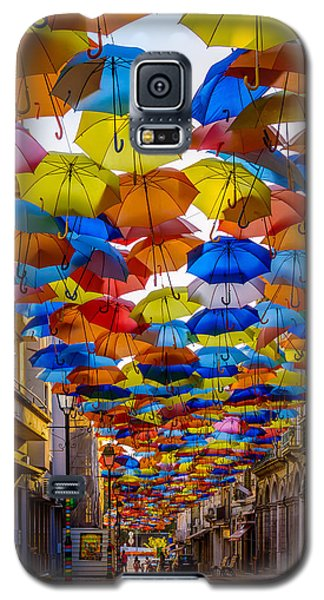 Colorful Floating Umbrellas Galaxy S5 Case