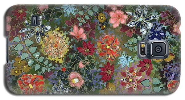 colorful flower painting - For July Galaxy S5 Case