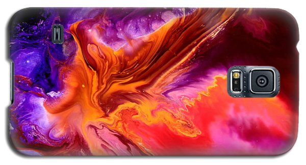 Colorful Fluid Abstract Art Moonstruck By Kredart Galaxy S5 Case