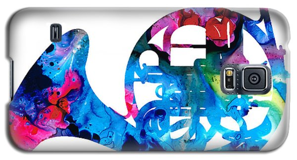 Colorful French Horn 2 - Cool Colors Abstract Art Sharon Cummings Galaxy S5 Case by Sharon Cummings