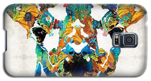 Colorful Giraffe Art - Curious - By Sharon Cummings Galaxy S5 Case