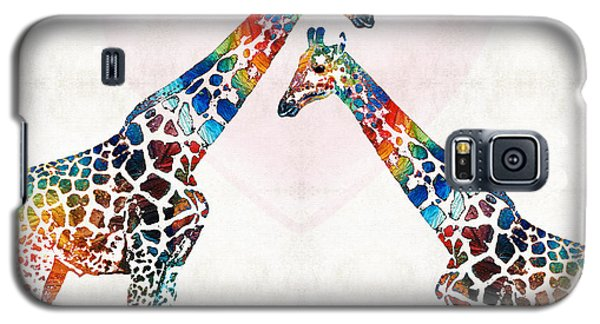 Colorful Giraffe Art - I've Got Your Back - By Sharon Cummings Galaxy S5 Case by Sharon Cummings