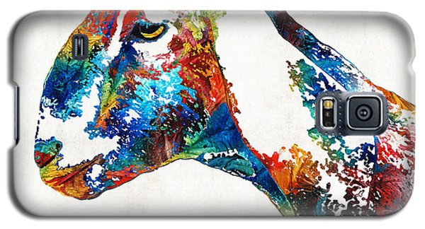 Colorful Goat Art By Sharon Cummings Galaxy S5 Case by Sharon Cummings