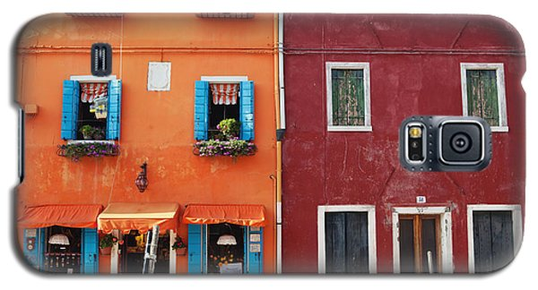 Colorful Houses Of Italy Galaxy S5 Case by Kim Fearheiley